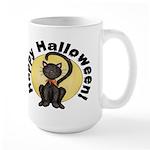 Black Cat Full Moon Large Mug