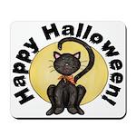 Black Cat Full Moon Mousepad