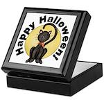 Black Cat Full Moon Keepsake Box