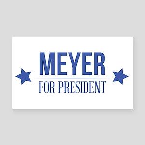 Meyer For President Blue Rectangle Car Magnet