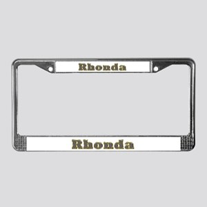 Rhonda Gold Diamond Bling License Plate Frame