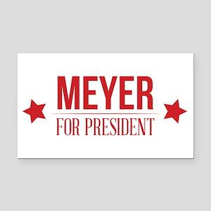 Meyer For President Red Rectangle Car Magnet