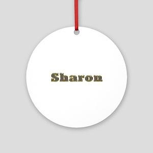 Sharon Gold Diamond Bling Round Ornament