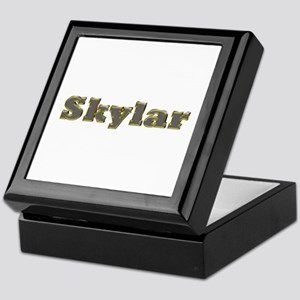 Skylar Gold Diamond Bling Keepsake Box