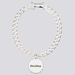 Sterling Gold Diamond Bling Charm Bracelet