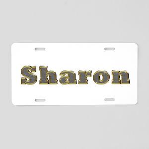 Sharon Gold Diamond Bling Aluminum License Plate