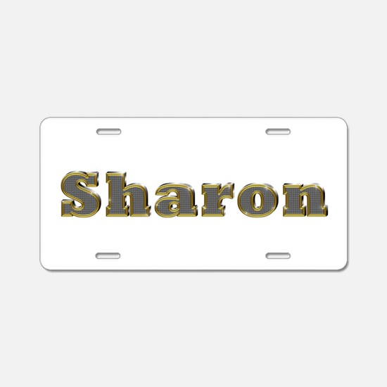 Sharon Gold Diamond Bling Aluminum License Plate