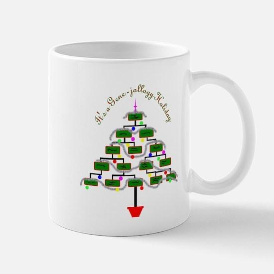 Genealogy Christmas Tree Mugs
