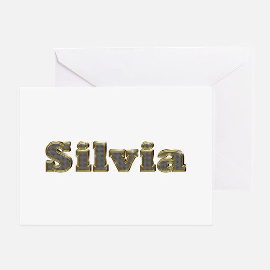 Silvia Gold Diamond Bling Greeting Card