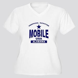 Mobile Women's Plus Size V-Neck T-Shirt