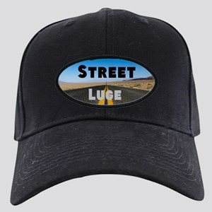 Street Luge Black Cap With Patch