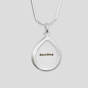 Sterling Gold Diamond Bling Silver Teardrop Neckla