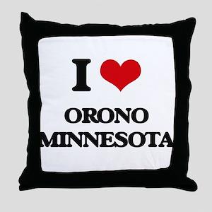 I love Orono Minnesota Throw Pillow