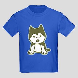 Husky Puppy Kids Dark T-Shirt
