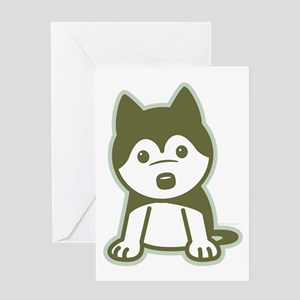 Husky Puppy Greeting Card