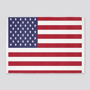 distressed american flag 5'x7'Area Rug