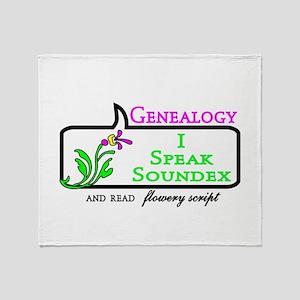 Genealogy Humor Soundex Throw Blanket