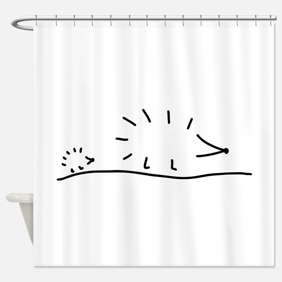 hedgehogs lay a track Shower Curtain