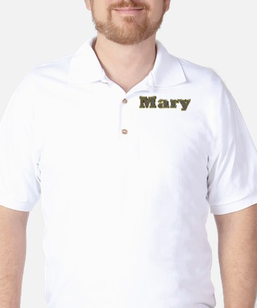 Mary Gold Diamond Bling Golf Shirt