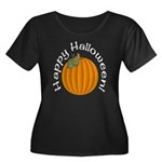 Happy Halloween! Plus Size Scoop Neck Dark Tee