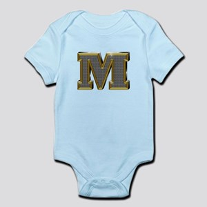 M Gold Diamond Bling Body Suit