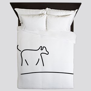dog play domestic animal Queen Duvet