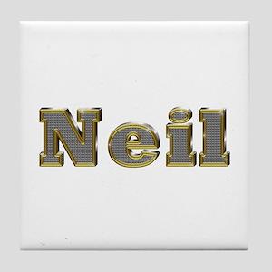 Neil Gold Diamond Bling Tile Coaster