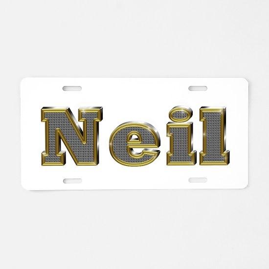 Neil Gold Diamond Bling Aluminum License Plate