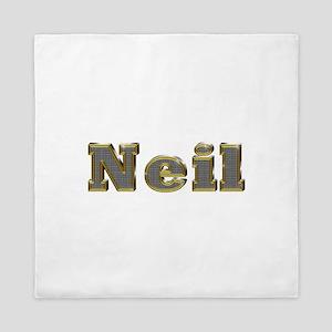 Neil Gold Diamond Bling Queen Duvet
