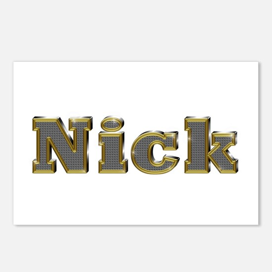 Nick Gold Diamond Bling Postcards 8 Pack