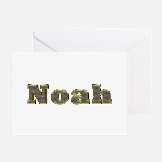 Noah Gold Diamond Bling Greeting Card