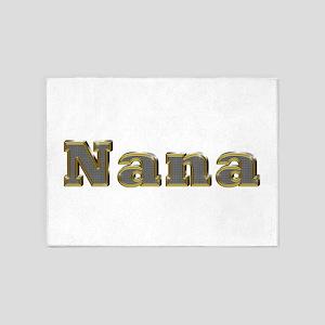 Nana Gold Diamond Bling 5'x7' Area Rug