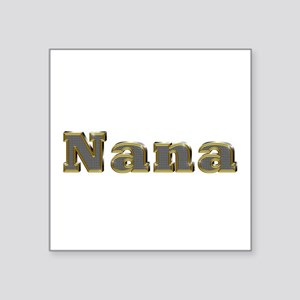 Nana Gold Diamond Bling Square Sticker