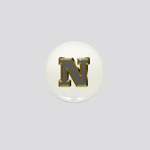 N Gold Diamond Bling Mini Button