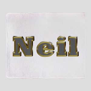 Neil Gold Diamond Bling Throw Blanket
