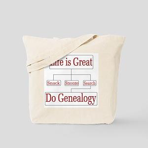 Do Genealogy Chart Tote Bag