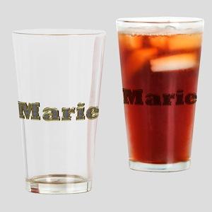 Marie Gold Diamond Bling Drinking Glass