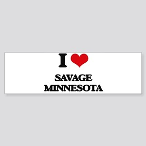 I love Savage Minnesota Bumper Sticker