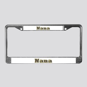 Nana Gold Diamond Bling License Plate Frame