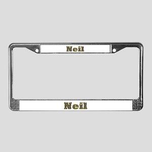 Neil Gold Diamond Bling License Plate Frame