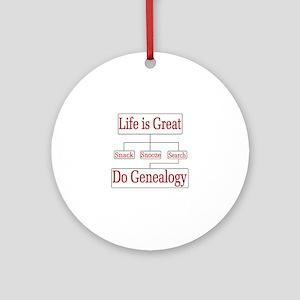 Do Genealogy Chart Ornament (Round)