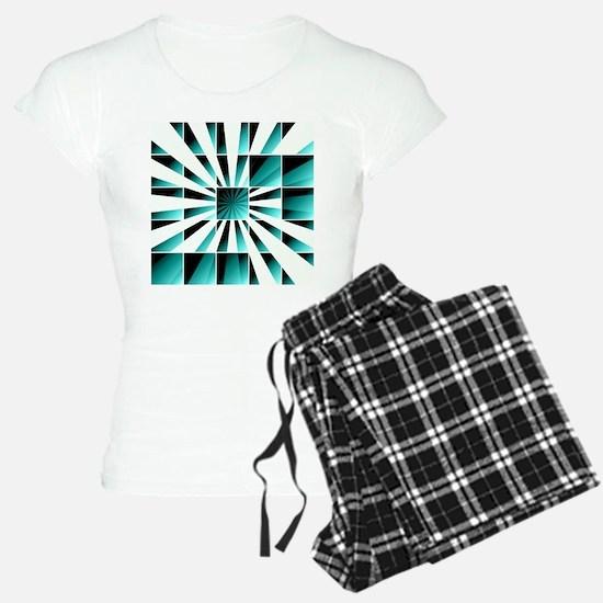 Abstract geometric turquoise Pajamas