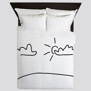 sun and weather Queen Duvet