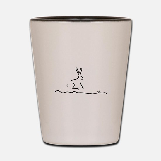 hare field hare wildly Shot Glass