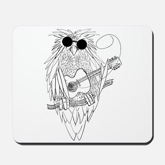 Music owl Mousepad