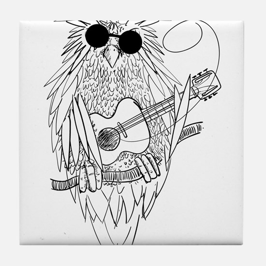 Music owl Tile Coaster