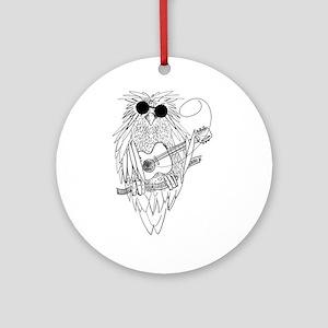 Music owl Ornament (Round)