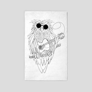Music owl Area Rug