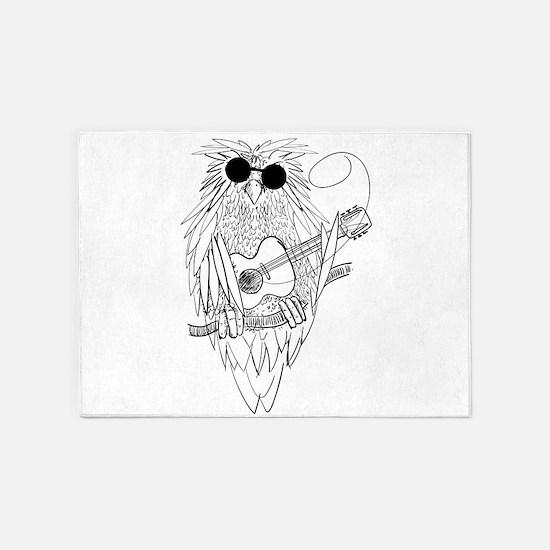 Music owl 5'x7'Area Rug
