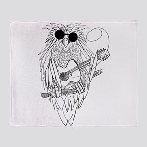 Music owl Throw Blanket